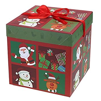 Whitelotous Christmas Paper Boxes Foldable Paper Christmas Gift Box Showcase Decoration Case(Large)  sc 1 st  Amazon.com & Amazon.com: Whitelotous Christmas Paper Boxes Foldable Paper ...
