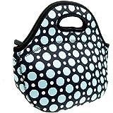 Neoprene Blue Dot Lunch Tote Bag - Insulated Waterproof...