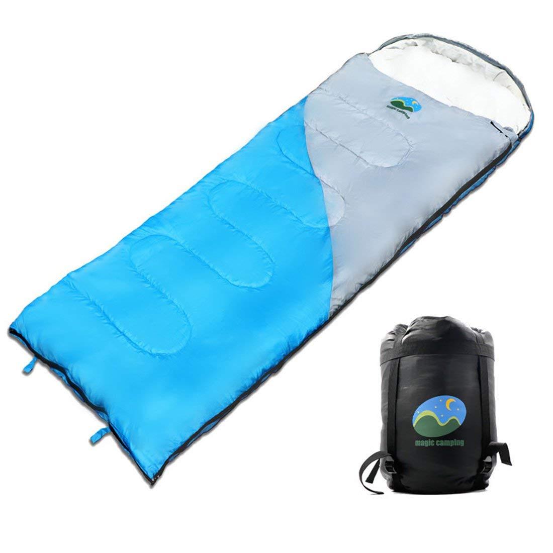 3 Estaciones Sacos de Dormir Rectangulares Impermeable con Bolsa de Compresi/ón Port/átil MAIKEHIGH Saco de Dormir Invierno para Acampar 1.6kg 10~5℃ para Viajes Camping Senderismo 220x75cm