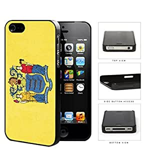 New Jersey State Flag Hard Plastic Snap On Cell Phone Case Apple iPhone 4 4s