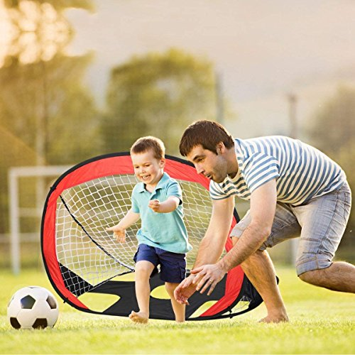 Eggsnow 2 in 1 Pop Up Kids Soccer Goal Portable Kids Soccer Net Kids Soccer Target with Carry Bag,Perfect for Indoor & Outdoor Sports and Practice by Eggsnow (Image #4)