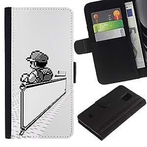 All Phone Most Case / Oferta Especial Cáscara Funda de cuero Monedero Cubierta de proteccion Caso / Wallet Case for Samsung Galaxy S5 Mini, SM-G800 // Mario Game
