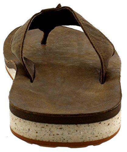 Teva Menns Klassiske Premium Skinn Flip-flop Mørk Jord