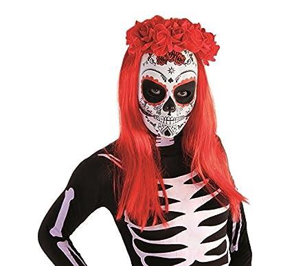Rubies Diadema Katrina con Rosas Día de los Muertos, Color Rojo, Talla única (