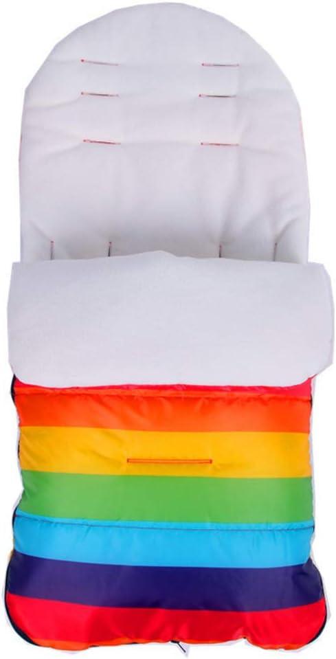 Mayoaoa Saco de Dormir para Cochecito de bebé, Saco de Dormir Tipo Trolley Grueso, Resistente al Viento, Impermeable, Saco para los pies Multicolor Multi-Color: Amazon.es: Hogar