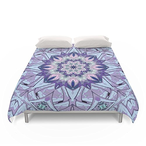 Society6 Lavender Meditation Kaleidoscope Duvet Covers Full: 79'' x 79'' by Society6