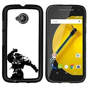 """Be-Star Único Patrón Plástico Duro Fundas Cover Cubre Hard Case Cover Para Motorola Moto E2 / E(2nd gen)( Master Chief - Hal0"""" )"""