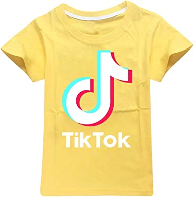 Camiseta Básica Niños Unsex Manga Corta TIK TOK Estampada Camiseta con Cuello Redondo Niño Niña Streetwear Camiseta T Shirt Deportiva tee: Amazon.es: Ropa y accesorios