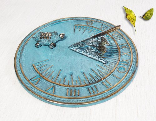 Decorative Brass Turtle Sundial - 7'' inches wide by Taiwan