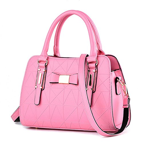 Leather Lady Pink Middle Bag PU 2018 Messenger Shopping Travel aged Bag New Bag Shoulder tYqfSnwU
