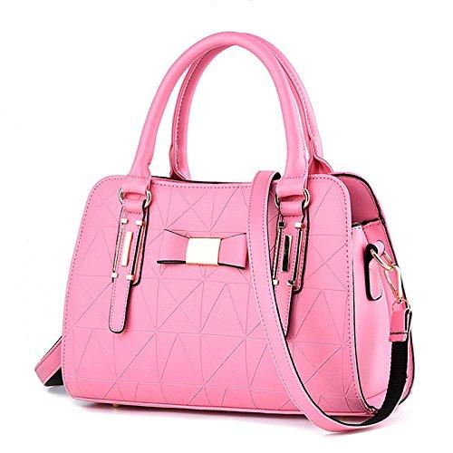 aged 2018 Lady Middle Bag Leather Bag Messenger New Shoulder Shopping Travel Pink PU Bag ErCqwr