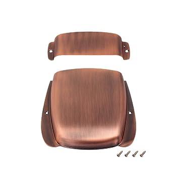 Cubierta de puente GAZ12 con tornillos para repuestos de guitarra eléctrica (bronce): Amazon.es: Instrumentos musicales