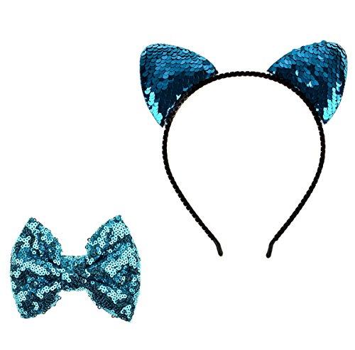 Ears Sequin Cat - 1