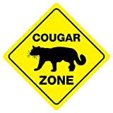 COUGAR CROSSING Funny Novelty Crossing Sign