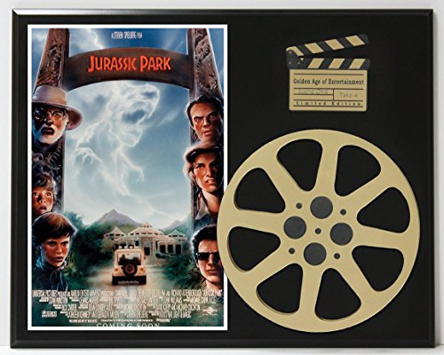 JURASSIC PARK WITH SAM NEILL & LAURA DERN LIMITED EDITION MOVIE REEL DISPLAY
