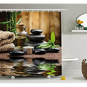 Zen fresh shower curtain forest decor by for Kitchen decoration nepal