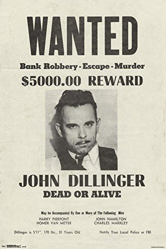 Trends International Dillinger Wanted Collector's Edition Wa