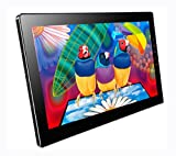 Portable Touchscreen Monitor,Eleduino 13.3 1080P IPS Capacitive Touch Display with Hdmi, Audio,Extra USB Power Input (Sky Black)