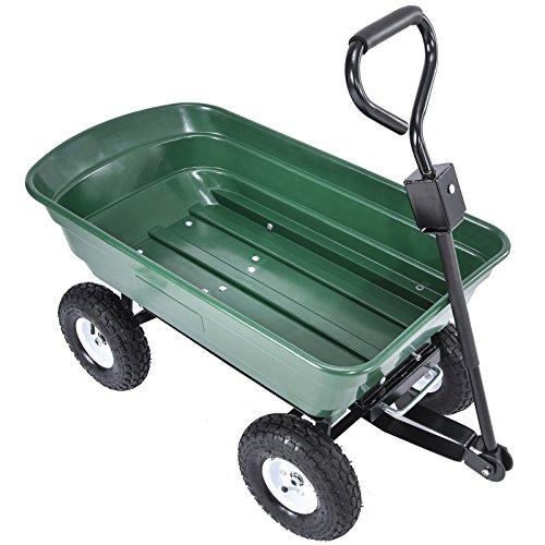UenJoy Heavy Duty 660 lb Garden Dump Cart Dumper Wagon Ca...