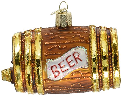 Old World Christmas Ornaments: Beer Keg Glass Blown Ornaments for Christmas Tree ()