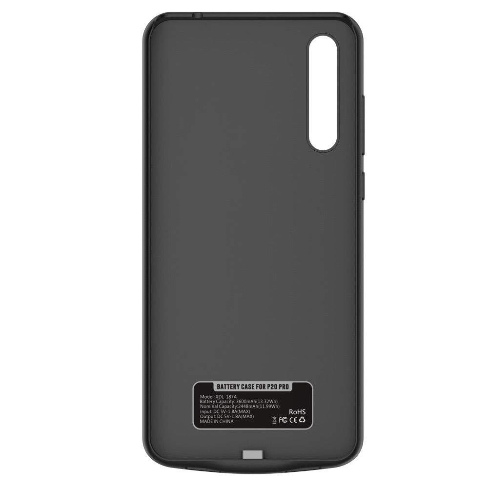 Huawei P20 FUNROSE Coque Batterie pour Huawei P20 //P20Pro,6000mAh Portable Batterie Chargeur Externe Puissante Rechargeable Power Bank Coque Batterie Housse