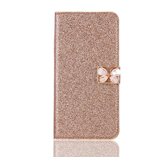 Price comparison product image Stand Wallet Card Case Cover,Elaco Women Iphone Case For iPhone 6/6s 4.7 inch /For iPhone 6 Plus 5.5inch/ iPhone 7 4.7inch/iPhone 7 Plus 5.5inch (Gold, iPhone 6 Plus/6s Plus 5.5inch)