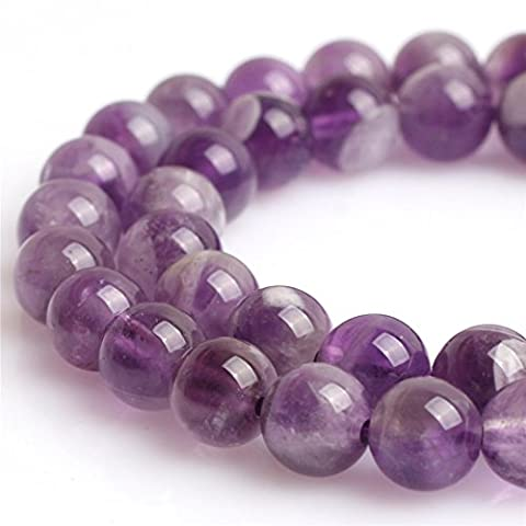Natural Round Mixed Color Amethyst Gemstone Loose Beads for Jewelry Making Handmade DIY One Strand 15