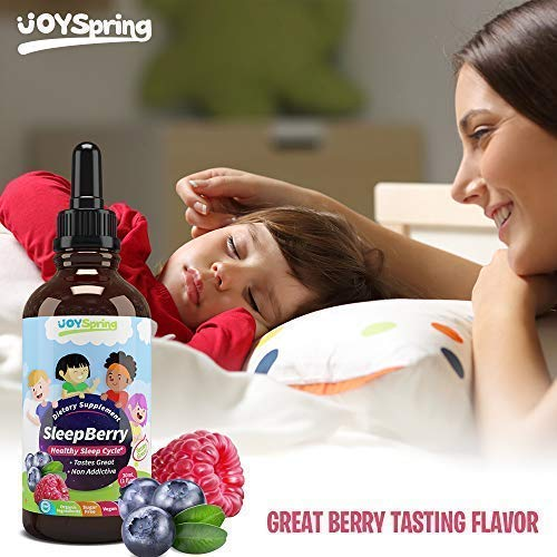 SleepBerry Liquid Melatonin for Kids - Natural Sleep Aid with Elderberry and Vitamin D - Boost Immune System While They Sleep by JoySpring (Image #6)