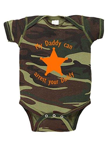 My Daddy Can Arrest Your Daddy Camo Baby Bodysuit One Piece Green Woodland Newborn