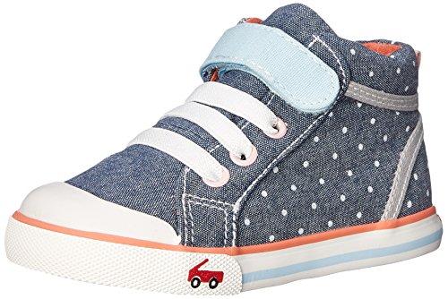 See Kai Run Peyton Sneaker (Toddler/Little Kid), Blue, 5 M US Toddler