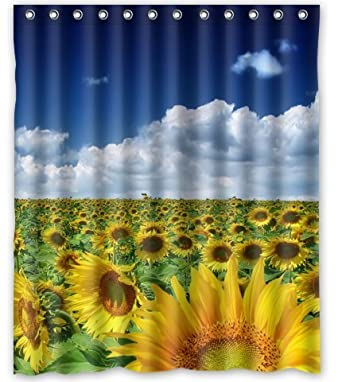 Charming Amazon.com: Standard Store Custom Sunflower Field Shower Curtain 60 Great Pictures