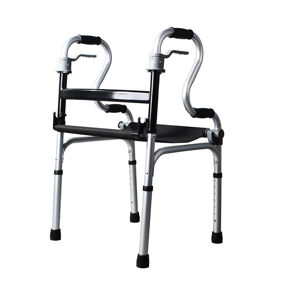 クッション付きウォーカーアルミ合金調節可能な老人ウォーカー障害者用装置   B07KCZVJQJ