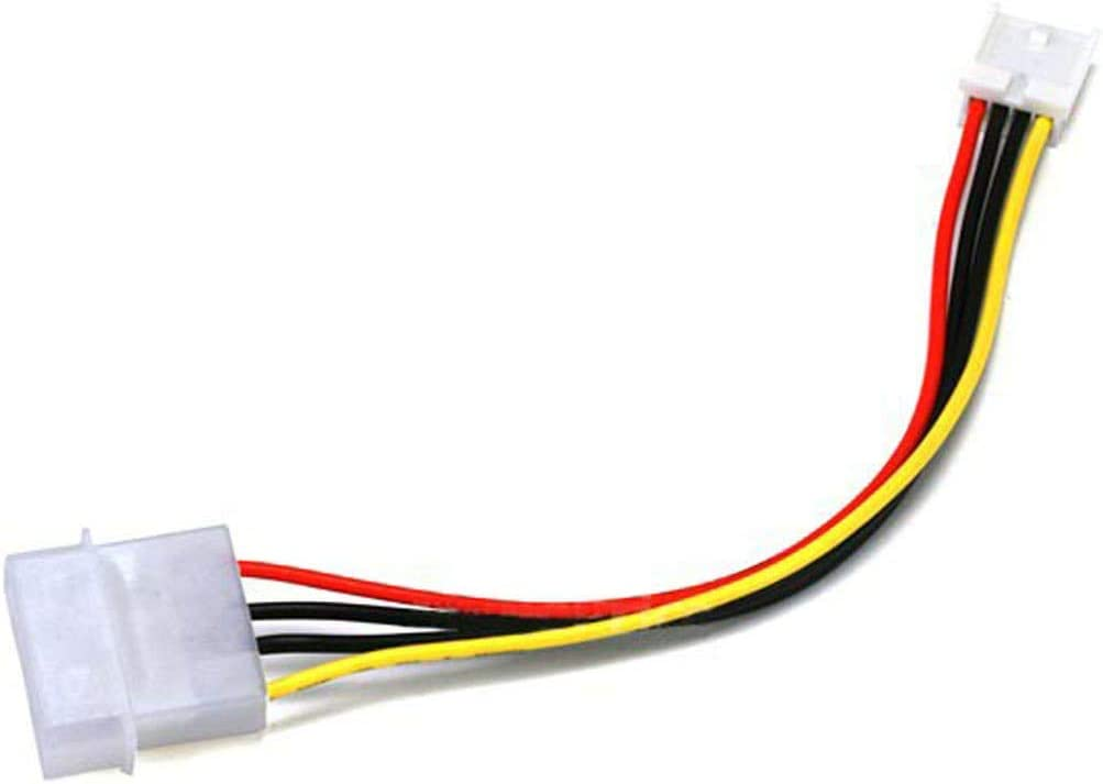 Discontinued by Manufacturer Monoprice 101318 6-Inch Molex 5.25 Male to 3.5 Female DC Power Cable