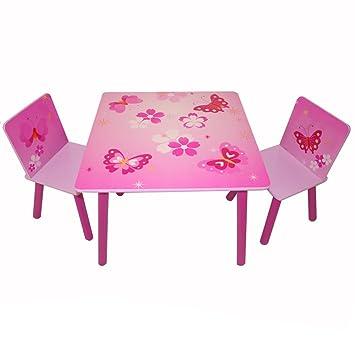 Homestyle4u 643 Kindersitzgruppe Schmetterling Blumen Kindermobel