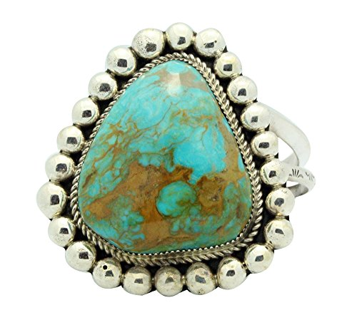 Mountain Cuff Set Bracelet (Ray Nez, Bracelet, Turquoise Mountain, Sterling Silver, Navajo Handmade)