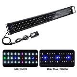 buy Yescom Multi-Color 156 LED Aquarium Light Full Spectrum Lamp Extendable Brackets for 45-50