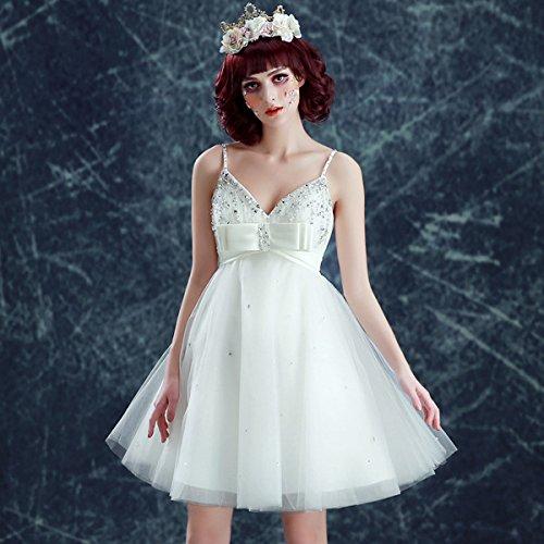 Vimans Damen A-Linie Kleid elfenbeinfarben ccfRHdxPjS