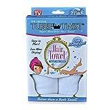 Turbie Twist Microfiber Super Absorbent Hair Towel (2 Pack)white