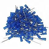 BQLZR 1.5 Inch Tip Dispensing Blunt Needles Blue 22Ga Adhesive Glue Use Pack of 100
