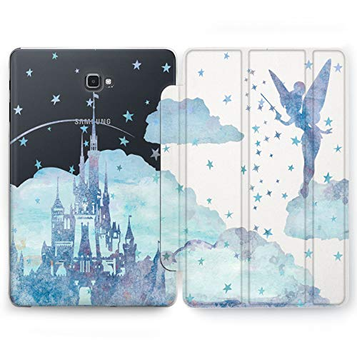 (Wonder Wild Tinker Bell Castle Samsung Galaxy Tab S4 S2 S3 A E Smart Stand Case 2015 2016 2017 2018 Tablet Cover 8 9.6 9.7 10 10.1 10.5 Inch Clear Design Cartoon Fairy Tale Princes Walter Disney)