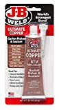 J-B Weld 32325 Ultimate Copper High Temperature RTV Silicone Gasket Maker and Sealant - 3 oz.