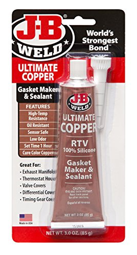 J-B Weld 32325 Ultimate Copper High Temperature RTV Silicone Gasket Maker and Sealant - 3 oz. by J-B Weld