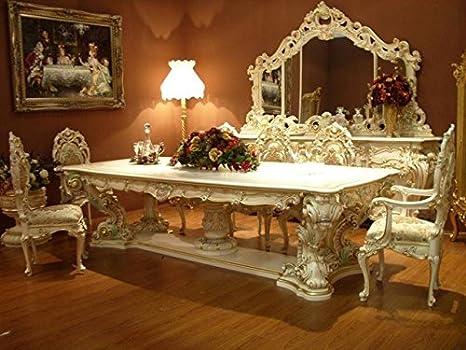 Tavoli Da Pranzo In Stile.Louisxv Tavolo Da Pranzo Barocco Barocco Rococo Vp9975 30 Amazon