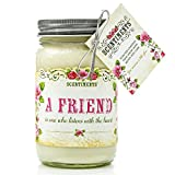 Scentiments BEST FRIEND Gift Candle Linen Scented Fragrance 16oz