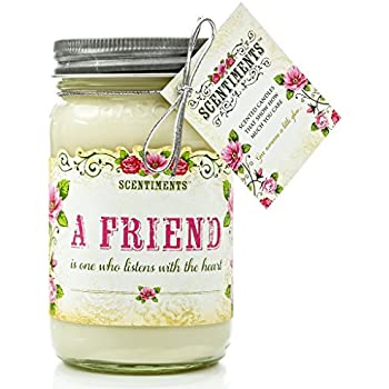 Scentiments BEST FRIEND Gift Candle Cinnamon Scented Fragrance 16oz