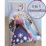 Disney Frozen Glacial UK Single/US Twin Duvet Cover and Pillowcase Set