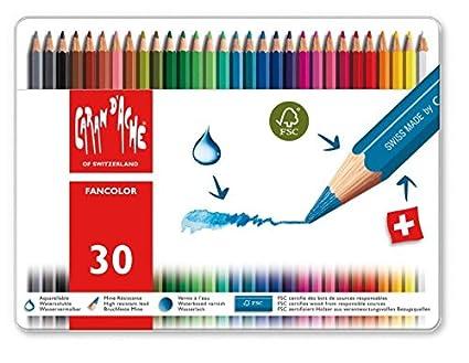amazon com caran d ache fancolor color pencils 30 colors arts