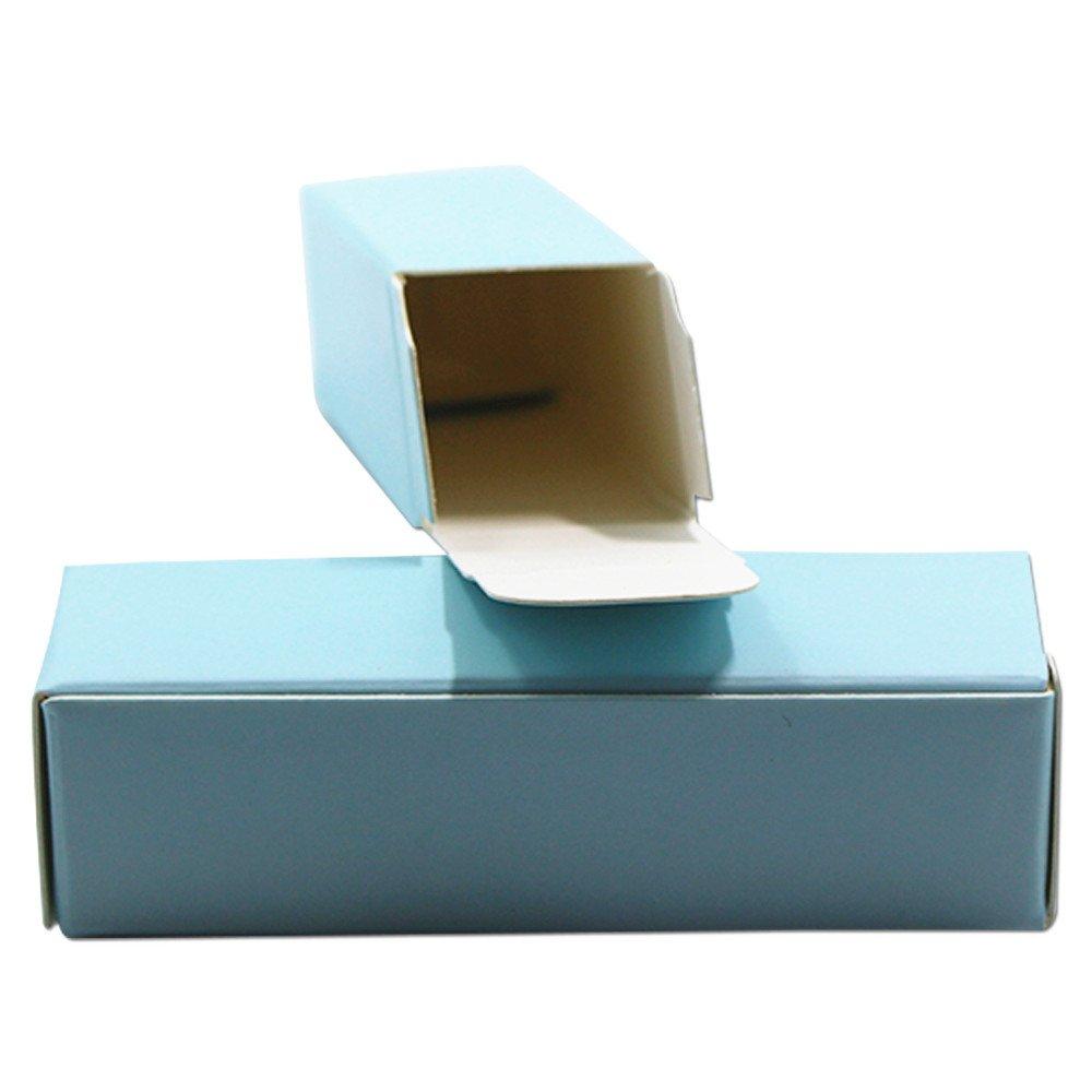 ブルー/グリーン 段ボール 収納ケース ボックス リップスティック 口紅ボトル 化粧道具 パッキングボックス クラフト紙 エッセンシャルオイルクリームボトル ギフト バスケット 小物収納 2 x 2 x 7.1 cm (blue) B07KMY1VTH Blue