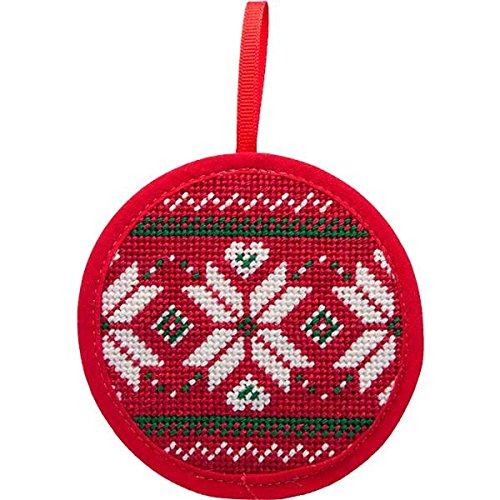 Alice Peterson Stitch-Ups Fair Isle Red Needlepoint Ornament Kit 7030