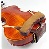 Hand Made Beautifully Crafted Leather Padded Violin Shoulder and Chin Rest for 3/4 and 1/2 size Violins - Left Shoulder